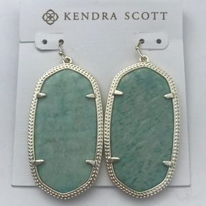 Kendra Scott Danielle gold amazonite earrings new